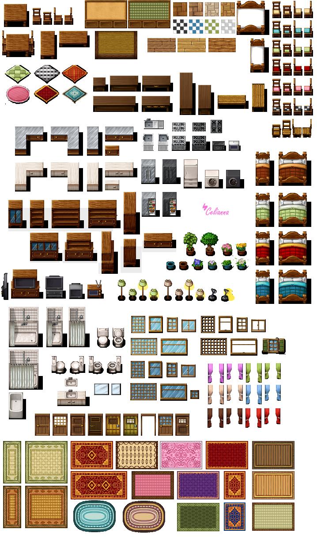 Pixanna interior tiles for Furniture blueprint maker